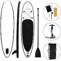 YQY Stand Up Paddleboard Conjunto, Inflable Paddle Board para Adultos Principiantes/intermedios, con el morral, Paleta, Bomba,Negro