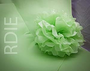 96 feuilles de papier de soie Vert Pastel, 50x75cm, 18 grs