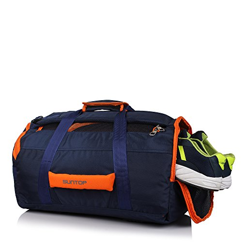 Suntop Sports 45 Ltrs Large Size Travel/Gym Backpack Bag With Ventilated Shoe Compartment