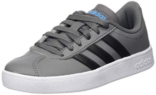 Adidas VL Court 2.0 K, Zapatillas de Deporte Unisex Adulto, (Gricua/Negbás/Ftwbla 000), 38 2/3 EU