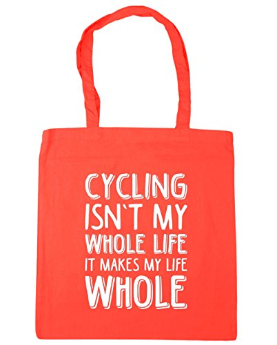 hippowarehouse-cycling-isnt-my-whole-life-it-makes-my-life-whole-tote-shopping-gym-beach-bag-42cm-x3