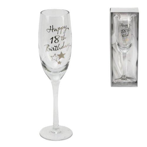 Juliana Happy 18th Birthday Flûte à Champagne en verre dans une boîte-cadeau G31818