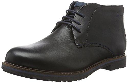 Sioux Herren Enrik-LF Desert Boots, Schwarz (Schwarz), 42.5 EU/UK 8,5 (Rustikale Herren-stiefel)