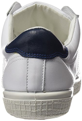 Kawasaki Badmin Leather, Baskets Basses Mixte Adulte WHITE/ NAVY HEE