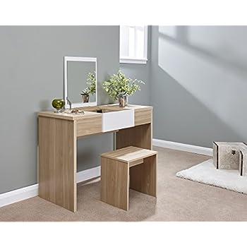 Puro Dressing Table Desk 1 Drawer Cream Amazon Co Uk