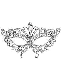 Máscara de diamante de la princesa, máscara de la bola del partido del partido, recepción de lujo de gama alta del partido del tema de la boda