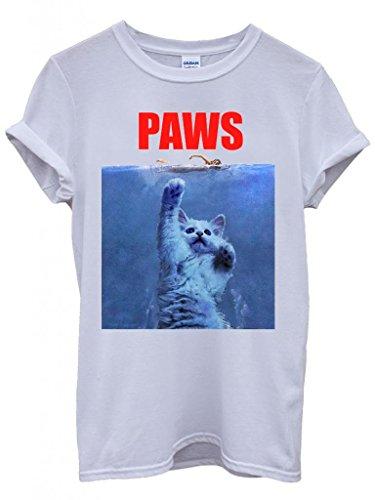 paws-cat-kitten-meow-parody-cool-funny-hipster-swag-white-wei-damen-herren-men-women-unisex-top-t-sh