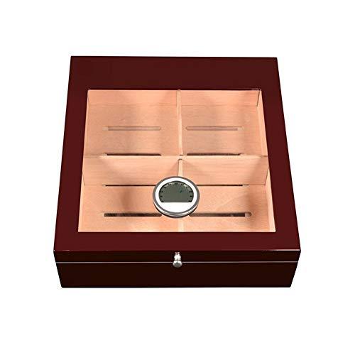 ZHJYD Kreative Humidor spanische Zedernholz transparenten Glas-Display-Box Lagerschränke