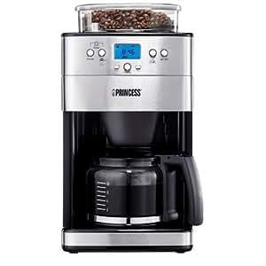 cafeti re filtre lectronique avec moulin grains princess 249401 cuisine maison. Black Bedroom Furniture Sets. Home Design Ideas