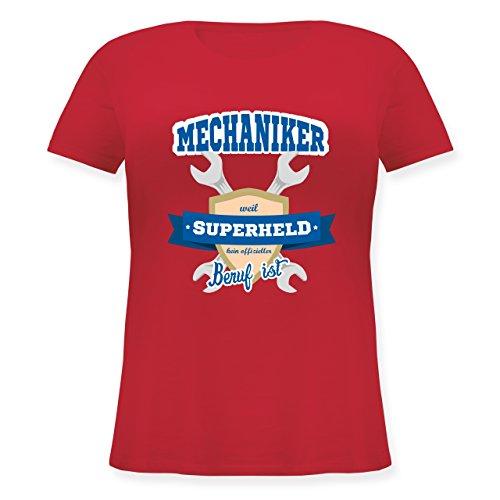 r - Weil Superheld Kein Offizieller Beruf ist - S (44) - Rot - JHK601 - Lockeres Damen-Shirt in Großen Größen mit Rundhalsausschnitt (Plus-size-superhelden-t-shirts)