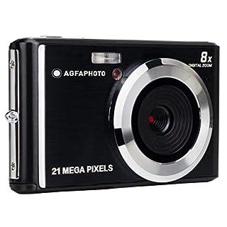 AGFA Photo – Kompakte Digitalkamera mit 21 Megapixel CMOS-Sensor, 8X Digitalzoom und LCD-Display Schwarz