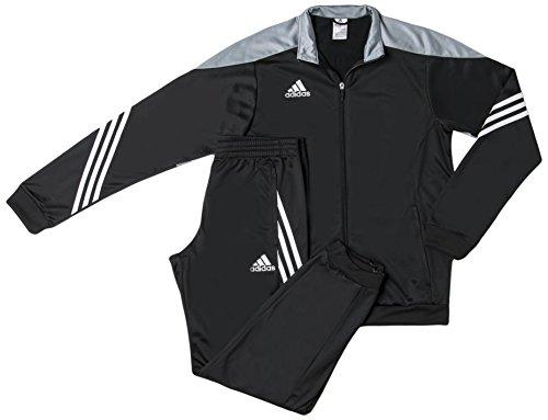 Adidas Sere14 Pes Suit Tuta da Ginnastica, Nero / Argento / Bianco, M
