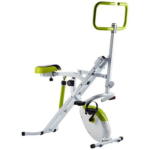 Ultrasport Home Trainer Horserider Rider più F-Bike Fitness Bike e Trainer per Addominali 2 in 1, Pieghevole, Allenamento di Tutto il Corpo Addome, Gambe Glutei, Cardio Trainer, Capacità di Carico fino a 110 kg