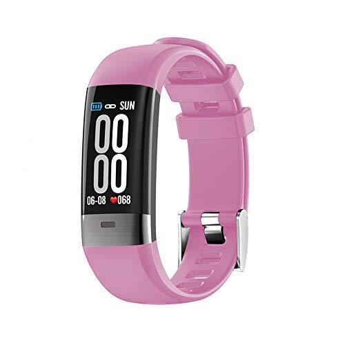 jay-long braccialetto sportivo intelligente, monitoraggio ecg + ppg, modalità multi-sport, orologio impermeabile ip68, promemoria intelligente, messaggio push, rapporto hrv,pink