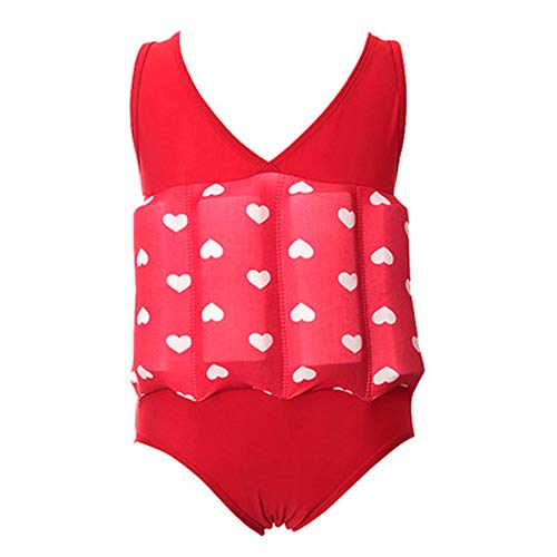 OBEEII Baby Junge Mädchen Badeanzug mit Schwimmhilfe Sonnenschutz Schwimmend Bademode mit Regulierbarem Auftrieb Schwimmkraft Schwimmanzug Sommer Badebekleidung für Kinder 2-3 Jahre -