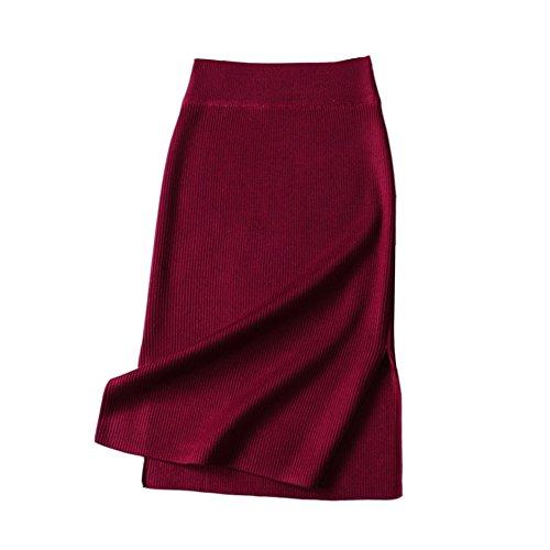 saideng-mujeres-de-talle-alto-tricotado-midi-falda-lapiz-bodycon-rajas-laterales-falda-vino-rojo