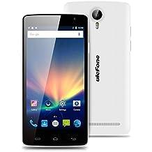 "Ulefone Be Pure Lite - Smartphone móvil libre Android 6.0 (Pantalla 5.0"", Cámara 8.0 Mp, ROM 8 GB, Quad Core 1.3GHz, Wifi, Dual SIM 3G, OTG), Blanco"