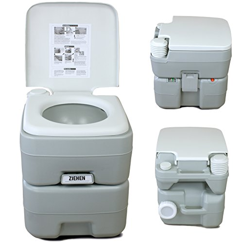 Portable camping toilet fresh deluxe by bb sport for Deluxe portable bathrooms