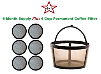 4-Cup Permanent Basket-Style Coffee Filter & AWater Filters designed to fit Mr. Coffee 4 Cup Coffeemakers