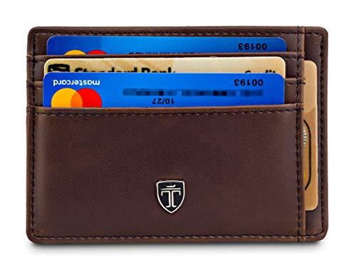 TRAVANDO  Geldbeutel Slim Portemonnaie Kreditkartenetui Kartenetui Herren Etui Kartenhalter Männer klein Kreditkartenhalter Brieftasche Geldbörse dünn Portmonee Mini Wallets for men RFID Schutz MACAO