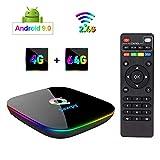 Sawpy Q Plus Andriod 9.0 Caja de televisor 4GB DDR3+64GB Cuatro nucleos cortex-A53 Frecuencia hasta 2G 6K WiFi Caja Inteligente de Televisor
