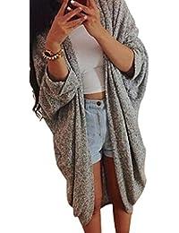 Minetom Mujeres Otoño Outwear Señora de Punto Casual Suéter Capa de la Chaqueta de la Rebeca Cardigan