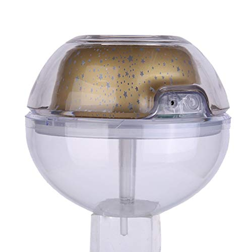 CAOQAO Cristal USB AromathéRapie Humidificateur À Ultrasons 500 ML,avec Couleur LumièRe Et Diffuseur LED Gratuit Veilleuse USB,PulvéRisateur Domestique,pour Beauté,DéCoration,La Purification,O