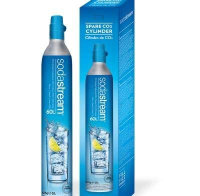 SodaStream Cilindro Co2 Addizionale in licenza d'uso, originale SodaStream per Gasatore d'acqua, da 60L fino a 100L