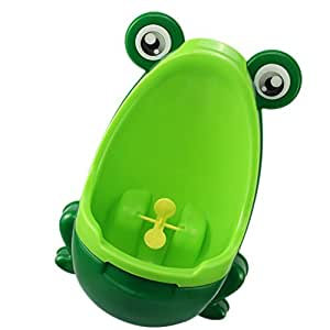 Toddler Kid Boy Toilet Frog Potty Urinal Stand Up Pee Wee Training Toilet - green, 21*16.5*30cm