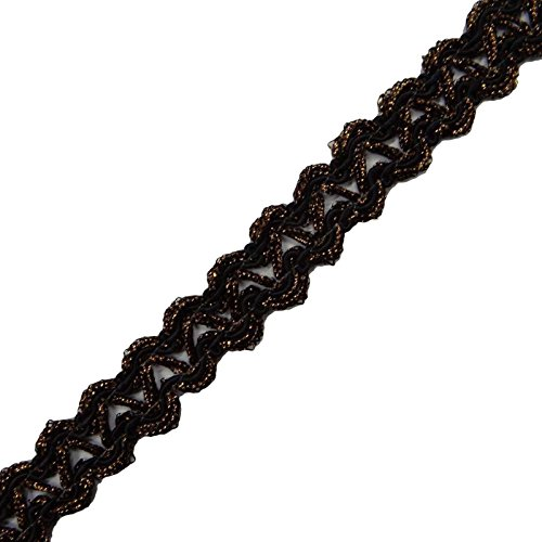 el-ajuste-negro-de-la-cinta-ropa-vestido-drapeado-de-la-cinta-hecha-a-mano-del-cordn-decorativo-cose