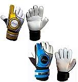 Sportskanone Blue Weapon Kinder Fingersave Torwarthandschuhe mit 4 Fingerschutz in verschiedenen Größen erhältlich, Grösse:7