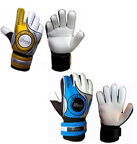 Die Sportskanone Kinder Junioren Fingersave Torwarthandschuhe mit Tasche (Blau, 6)