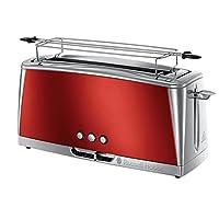 Russell Hobbs 23250-56 Luna Uzun Ekmek Kızartma Makinesi, 2 dilim, Paslanmaz Çelik, Kırmızı (Solar Red)