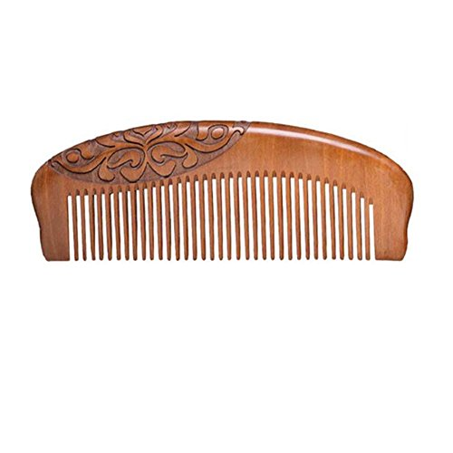 Bois de pêche, peigne antistatique anti-cheveux de bois de santal découpé par bois de santal