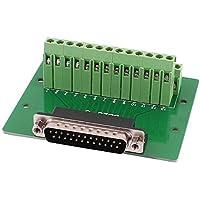 DB25 D-SUB de 25 clavijas macho Terminal Junta PCB Breakout 2 Adaptador Tornillo Fila