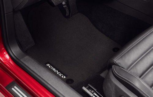 Kit 4alfombra de suelo de terciopelo negro para Volkswagen Scirocco