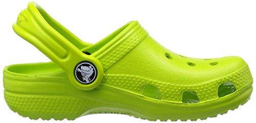 Crocs Classic Kids, Sabots Mixte Enfant Vert (Volt Green)