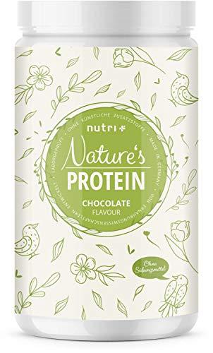 EIWEIßPULVER ohne Süßungsmittel Schokolade 500g - natürliches Proteinpulver ohne Lactose, Zucker & Whey - Schoko Eiweiß - Natures Protein Pulver - Shake in Deutschland hergestellt