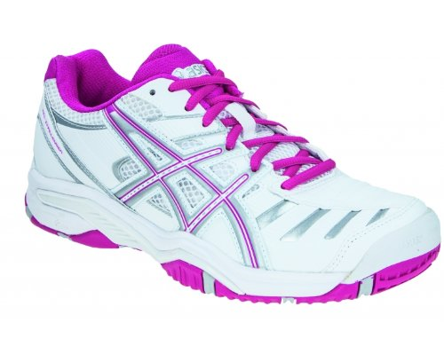 Asics Gel-Challenger 9, Scarpe da Tennis Donna Bianco (Weiß/Pink/Silber)