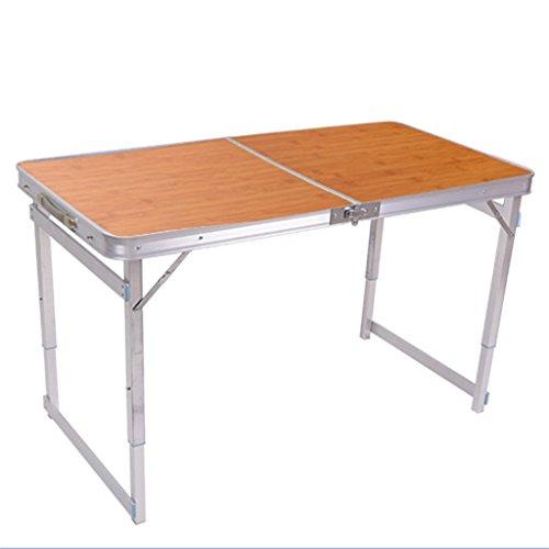 Einfache Portable Klapptisch Eine Tabelle Zwei Nutzungen, Home/Picknick / Camping/Grill Bankett/Party / Markt/Garten 120 * 60 * 68,5 cm Trag 80KG
