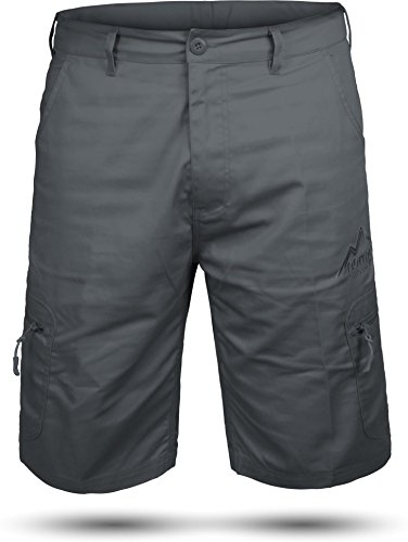 normani Kurze Bermuda Shorts US Army Ranger Feldhose Arbeitshose S - XXXL Farbe Grau Valley Größe XXL -