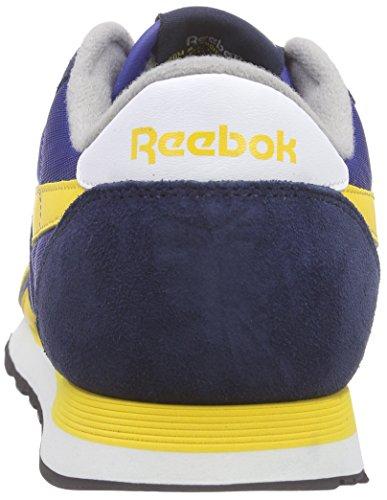 Reebok Herren Classic Nylon Laufschuhe Blau (Cllg Navy/Tm Drk Ryl/Tin Gry/Marigold/Wht/Blk)