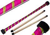 Baton du Diable Set TWIST (Violet/Vert) + Ultra-Grip Silicone Bâtons en bois! Bâtons de Diable, Bâtons de Jonglage!