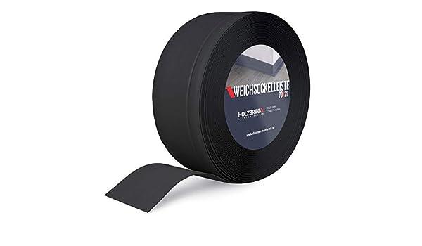 5 m HOLZBRINK Plinthe Souple Noire Plinthe Cass/ée PVC 100x25 mm
