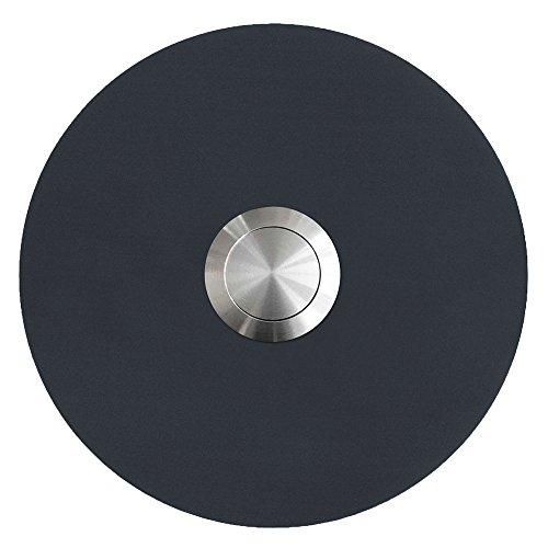 MOCAVI RING 120 Edelstahl-Design-Klingel anthrazit-grau matt RAL 7016 rund (8 cm.) dunkel-grau, Klingeltaster