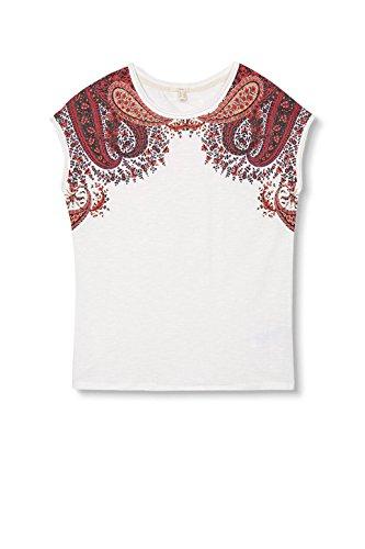 ESPRIT Damen T-Shirt Mehrfarbig (Off White 110)