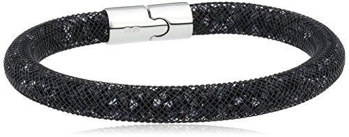 Swarovski - 5089843, Bracciale con vetro donna, nero, 20 centimeters