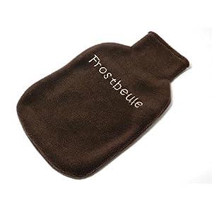 Wärmflaschenhülle Fleece mit Stickerei – FROSTBEULE – Wärmflaschenbezug für 2 Liter Wärmflasche – personalisierbar…