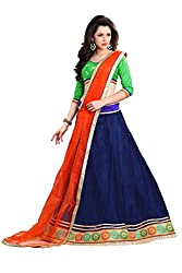 Florence Womens Net Lehenga Choli (AN_1038)