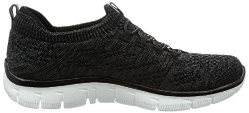 Skechers Empire-Sharp Thinking, Sneakers Basses Femme Noir (BKW)